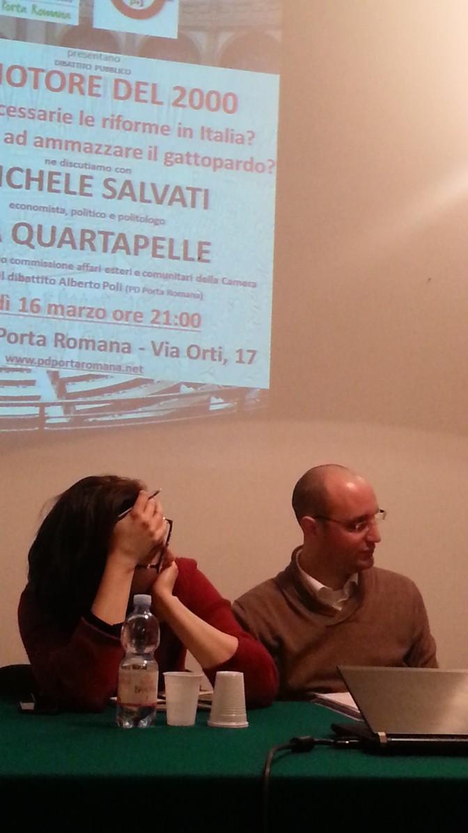 Il motore del duemila: bella serata al circolo con Lia Quartapelle e Michele Salvati