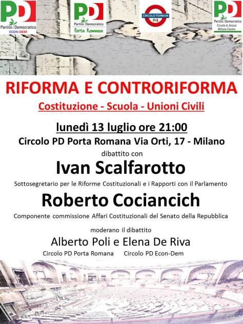 PD Porta Romana 13.7.15 Riforma e Controriforma