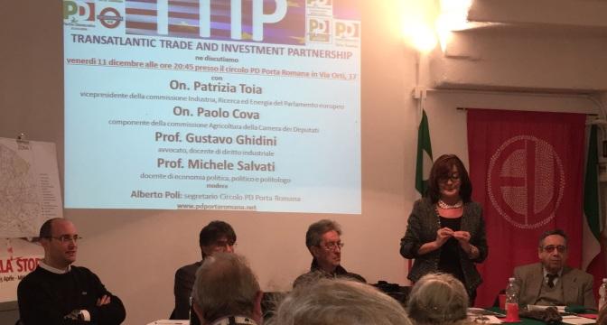 TTIP: ECCO QUANTO SCATURITO DAL DIBATTITO TENUTOSI L'11 DICEMBRE AL CIRCOLO