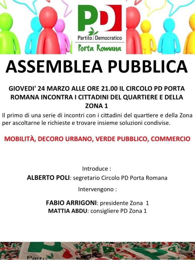 Prossimi appuntamenti: 24/3 Assemblea Pubblica sul programma in Zona 1 e 22/3 incontro con lo psicoanalista Giorgio Majorino