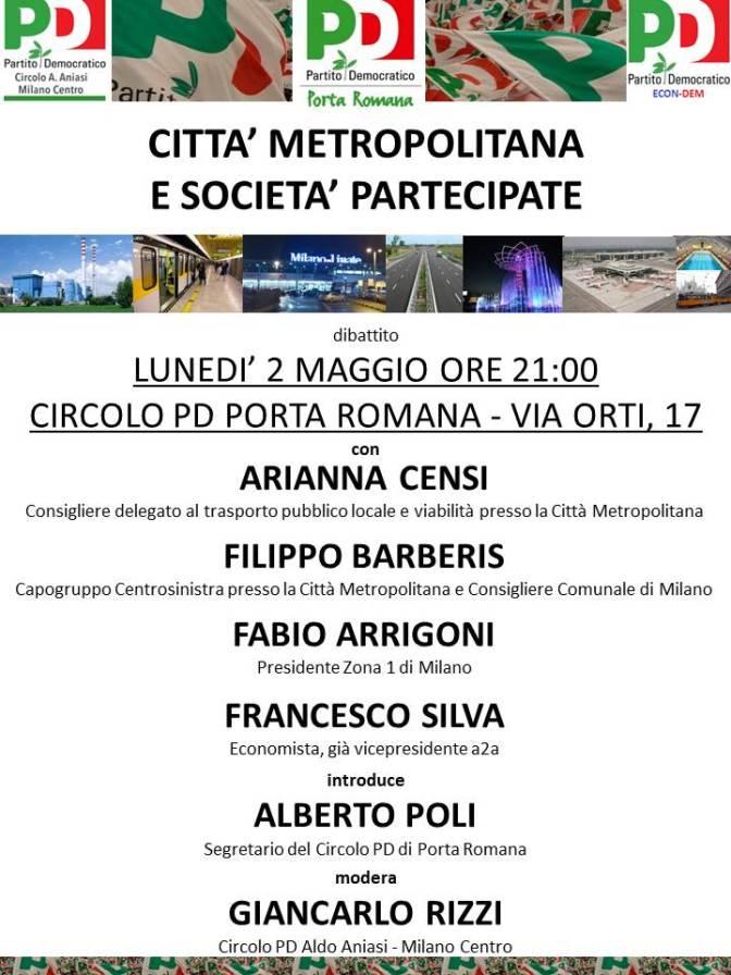 Dibattito di lunedì 2 maggio e apertura del Circolo il 13,14 e 15 maggio