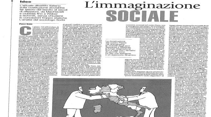 LE RAGIONI STORICHE DELLA RIFORMA COSTITUZIONALE. ARTICOLO DEL PROF. PAOLO SORBI