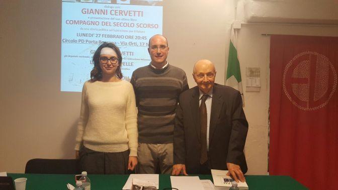 Le immagini della serata di Lunedì 27 febbraio con Gianni Cervetti e Lia Quartapelle al Circolo